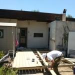 בסיס דק חדש בכניסה לבית