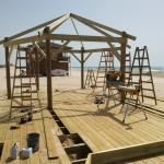 בניית פרגולות בחוף זיקים