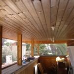 חיפוי עץ לתקרת מרפסת - חיפוי דקורטיבי לבית