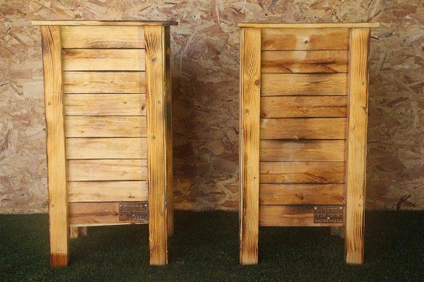 אדנית עץ דגם 'אייתן' למרפסות גבונות וחצרות - הללויה הארומה שבעץ