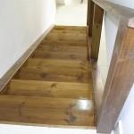 מדרגות מעץ מבט מלמעלה - עבודות עץ מיוחדות