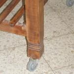 עבודות עץ שונות - רגל שולחן עץ