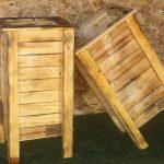אדניות מעץ דגם 'אייתן' - הללויה הארומה שבעץ
